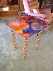 Resin Nightstands (Pair) w/Copper Legs! You can choose your colors!