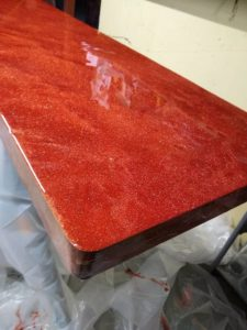 """Solid Maple Bar Top Copper Flake - 93.5"""" x 20"""""""
